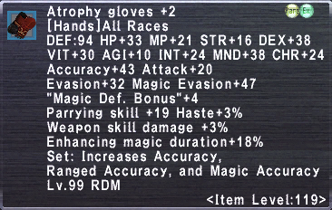 Atrophy Gloves +2