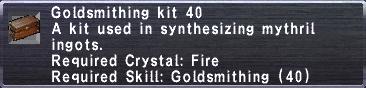Goldsmithing Kit 40