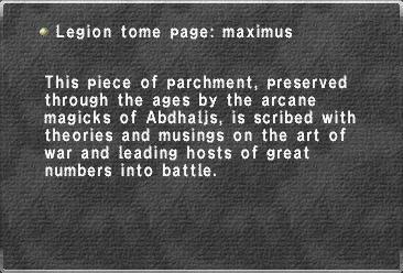 Legion tome page maximus