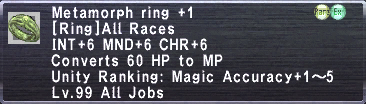 Metamorph Ring +1