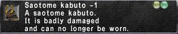Saotome Kabuto Minus 1