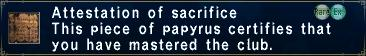 Attestation of sacrifice
