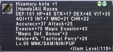 Hizamaru Kote +1