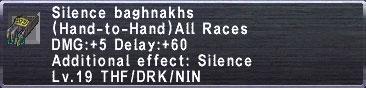 Silence baghnakhs
