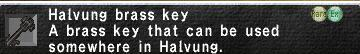 Halvung key