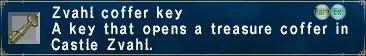 Zvahl coffer key