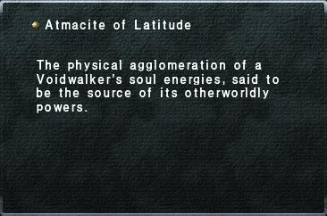 Atmacite of Latitude