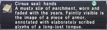 Cirque seal hands