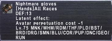 Nightmare Gloves