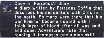 11 Ferreous's Diary