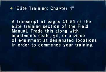Elite Training- Chapter 4