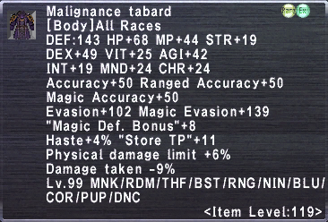 Malignance Tabard