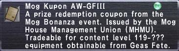 Kupon AW-GFIII