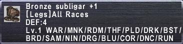Bronze Subligar +1