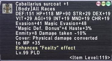 Caballarius surcoat +1