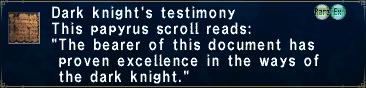 Dark Knight's Testimony