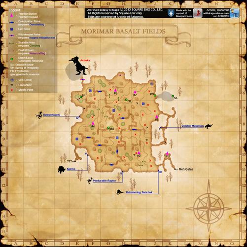 Morimar Basalt Fields Map