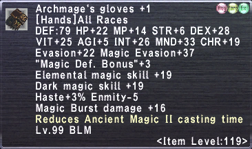 Archmage's Gloves +1