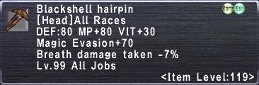 Blackshell Hairpin