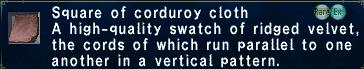 Corduoroy cloth