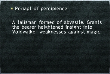 Periapt of Percipience