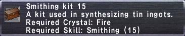 Smithing Kit 15