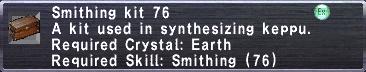 Smithing Kit 76