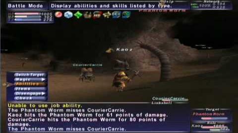 FFXI NM Saga 056 Phantom Worm vs BST solo Full Battle