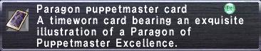 Paragon Puppetmaster Card