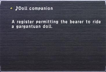 ♪Doll companion