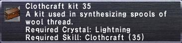 Clothcraft Kit 35
