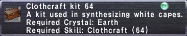 Clothcraft Kit 64