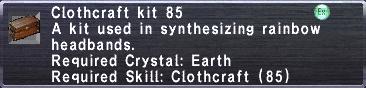 Clothcraft Kit 85