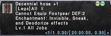 Decennial hose +1
