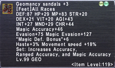 Geomancy Sandals +3