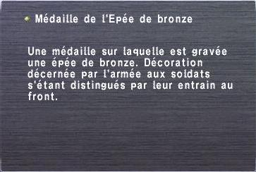 Médaille de l'Epée de bronze