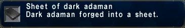 Dark Adaman Sheet