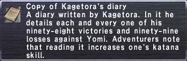 Kagetora's Diary