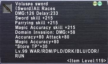 Voluspa Sword