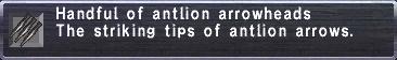 Antlion Arrowheads