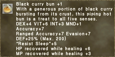 Black curry bun +1