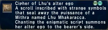 Cipher Lhu