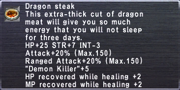 Dragon steak