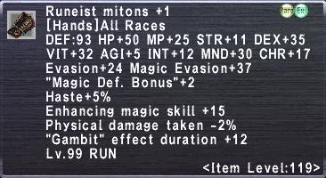 Runeist Mitons +1