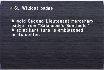 SL Wildcat Badge