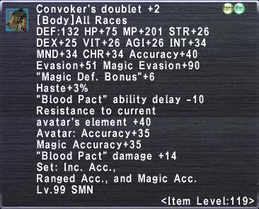 Convoker's Doublet +2