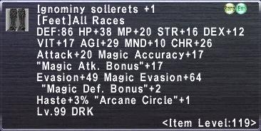 Ignominy Sollerets +1