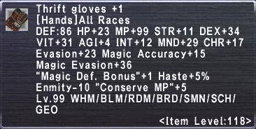 Thrift Gloves +1