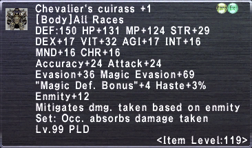Chevalier's Cuirass +!
