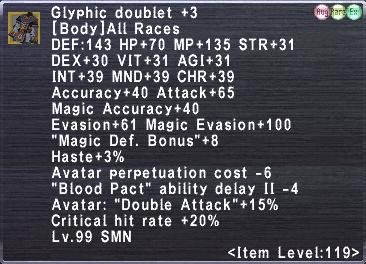 Glyphic Doublet +3